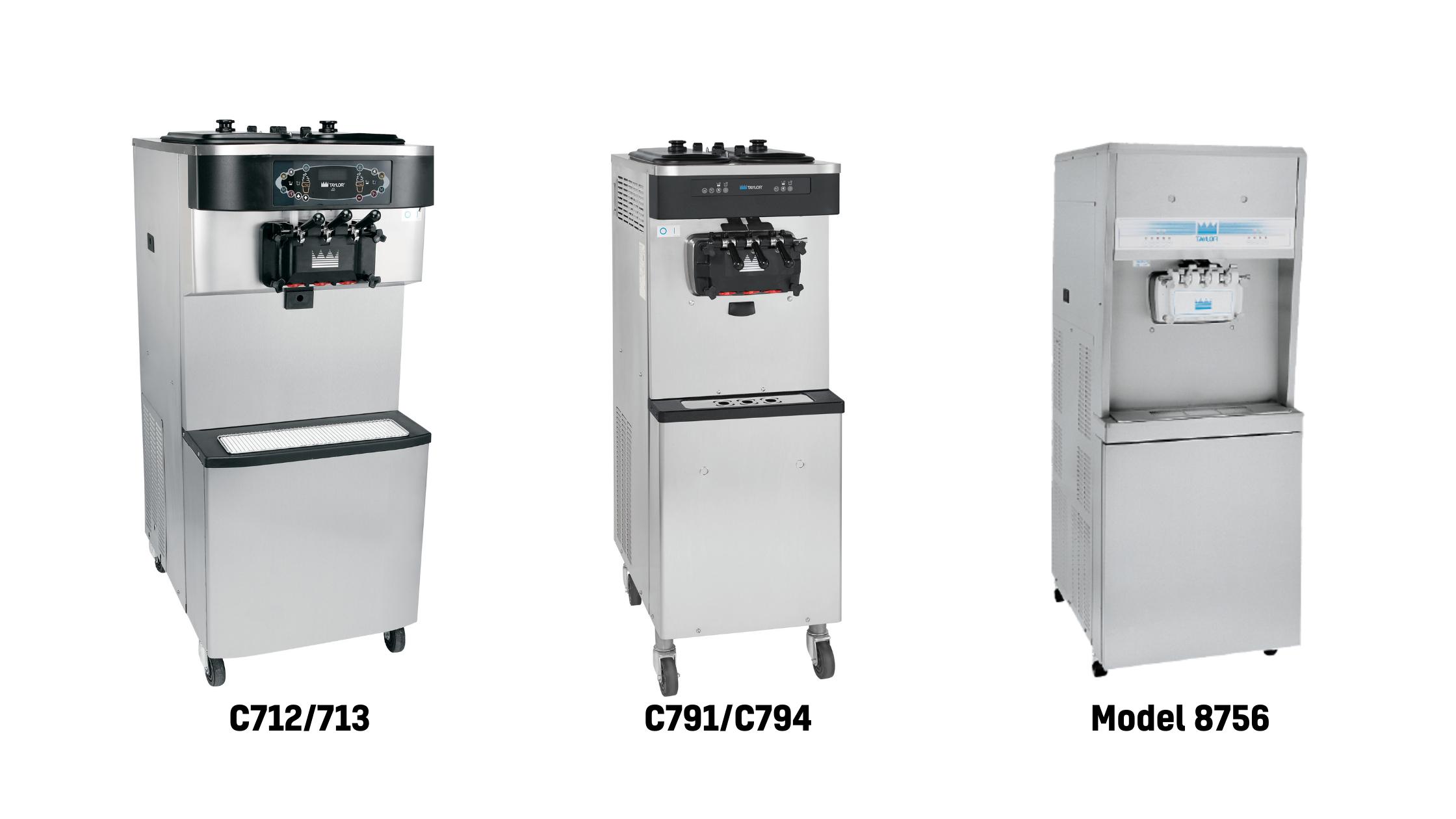 Soft Serve Models_ C712_C713, C791_C794, Model 8756